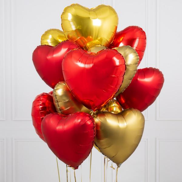 Букет из воздушных шариков Сердца
