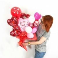Крафтовый букет из воздушных шаров С Любовью!