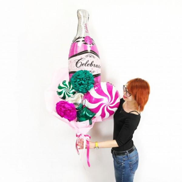Крафтовый букет из воздушных шаров Праздник!