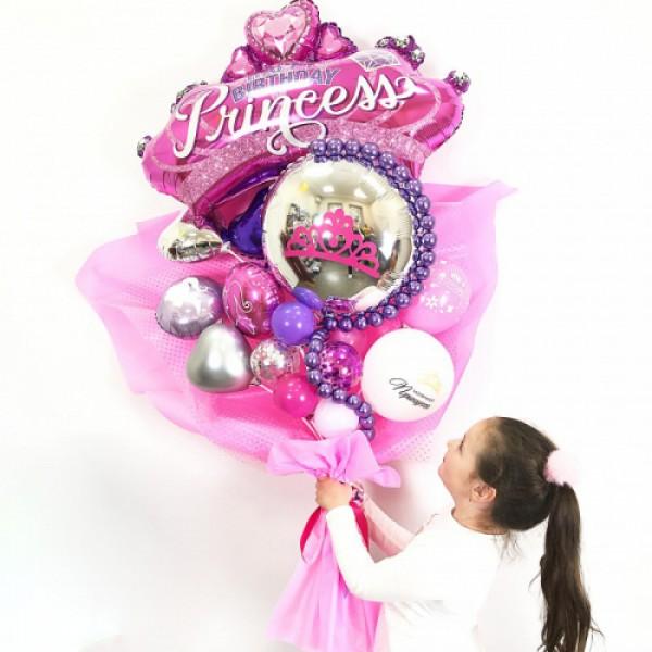 Крафтовый букет из воздушных шаров «Принцесса»