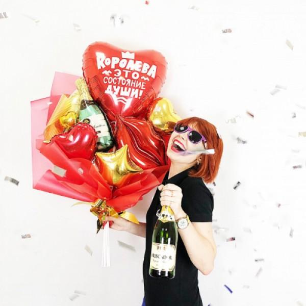 Крафтовый букет из воздушных шаров  Для Королевы!