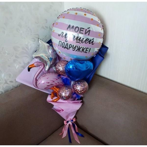 Крафтовый букет из воздушных шаров Подружка!