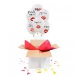 "Коробка сюрприз с воздушными шарами "" Kiss me"""