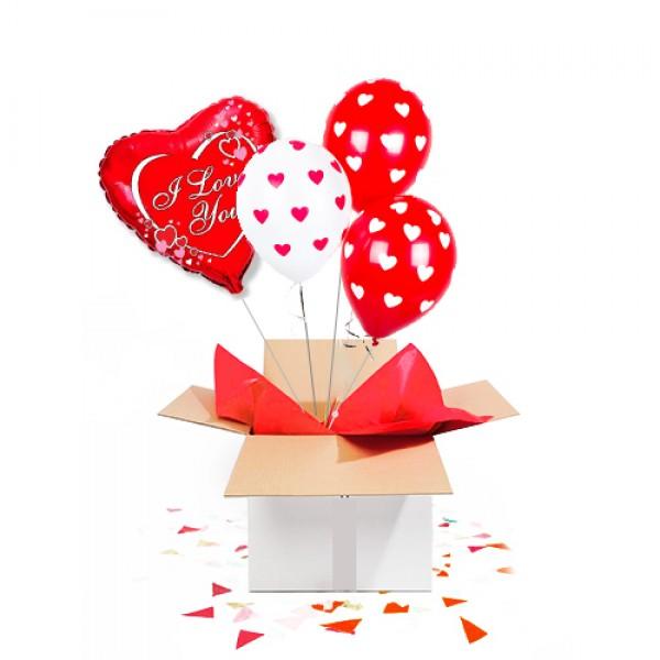"""Коробка сюрприз с воздушными шарами  """" Для любимых"""""""