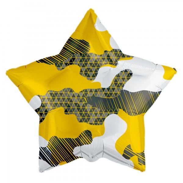 Фольгированная звезда Песочная (18/46 см )