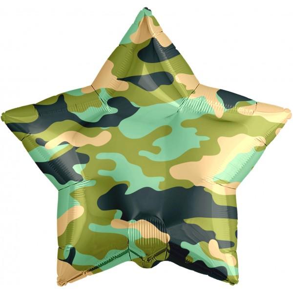 Фольгированная звезда Хаки      (18/46 см )