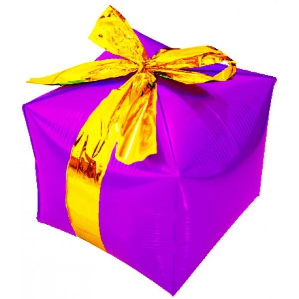Шар фольгированный Подарок, Ассорти, (28/71 см) 1 шт.