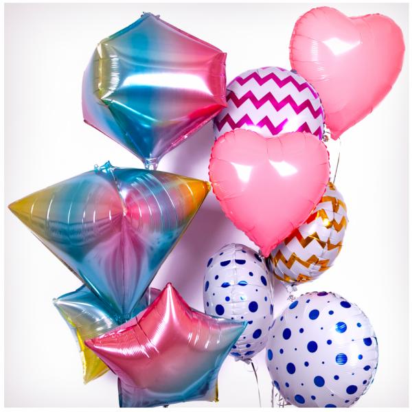 Букет из воздушных шариков Модный День Рождения