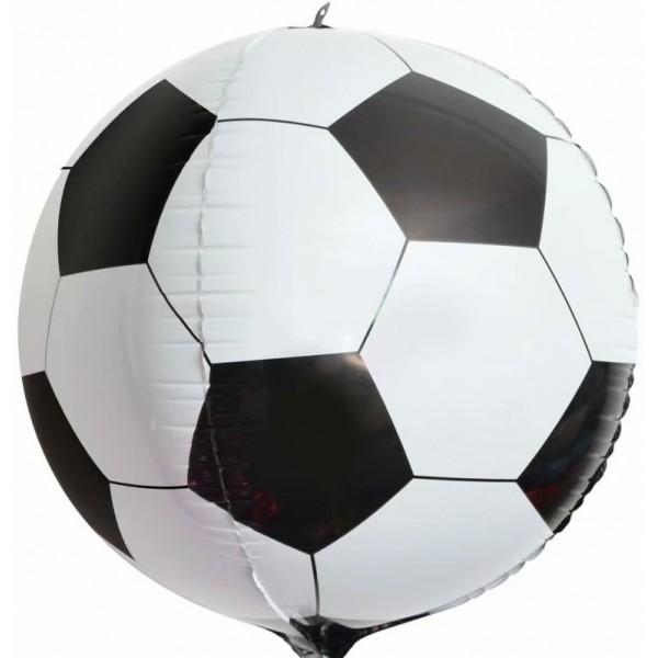 Шар фольгированный Сфера 3D, С Днем Рождения, Футбольный мяч  (24/61 см)