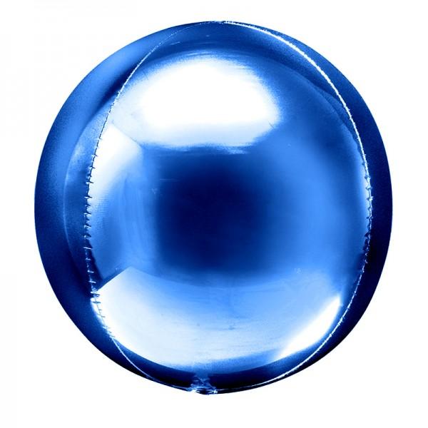 Шар фольгированный 3D Сфера Синий 24/61 см