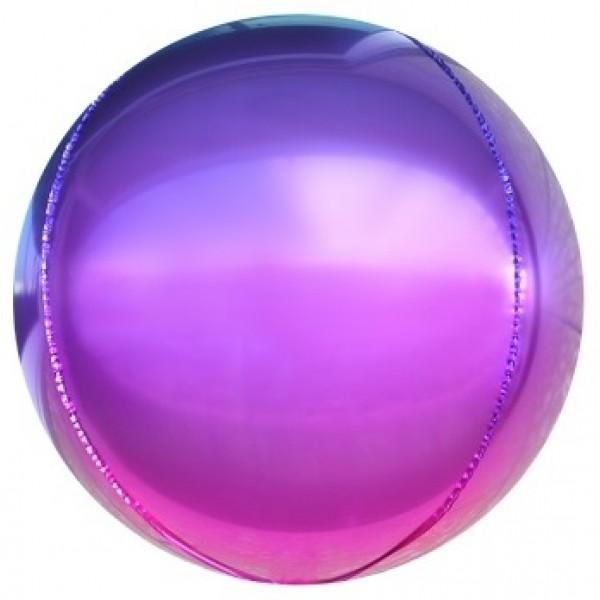 Шар фольгированный  Сфера 3D, Градиент, Фиолетовый (24/61 см)