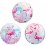 Шар фольгированный Сфера 3D, С Днем Рождения, Фламинго  (24/61 см)