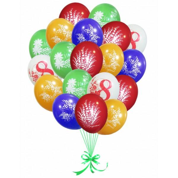"""Облако воздушных шаров """"С 8 Марта"""""""