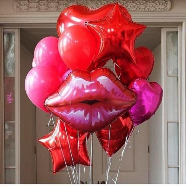 """Букет из воздушных шаров """" Полелуйчики с любовью"""""""