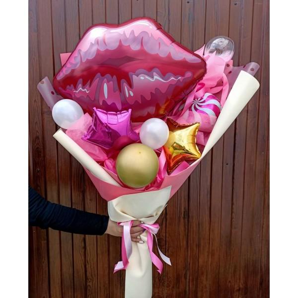 """Крафтовый букет из воздушных шаров  """" Губки """""""