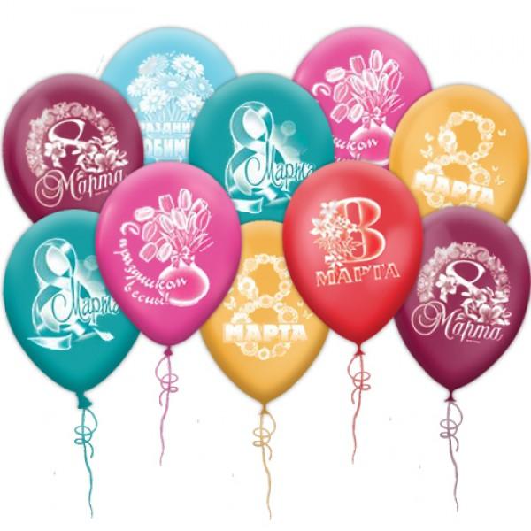 """Воздушные шары под потолок """"На 8 Марта"""""""
