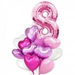 """Букет из воздушных  шариков """" 8 Марта.Розовый"""""""