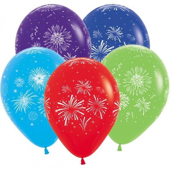 Воздушные шарики 9 Мая Салют
