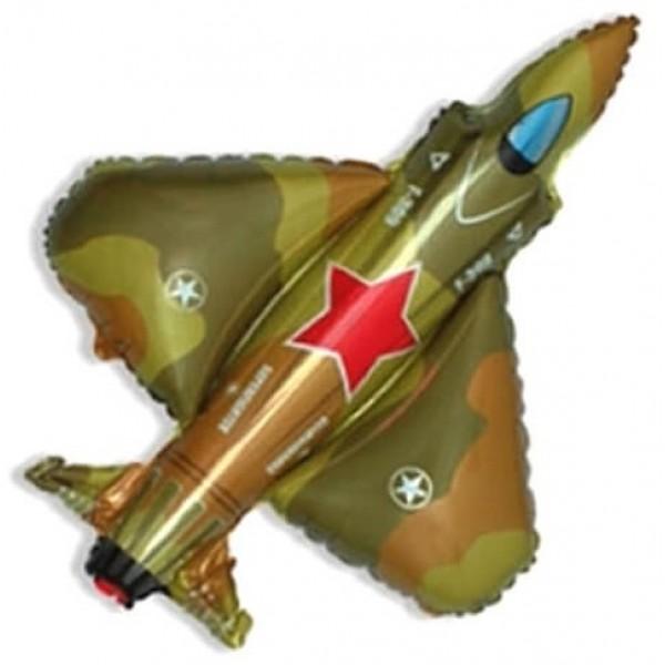 Воздушный фольгированный шар 9 Мая Самолет