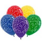 Воздушные шарики Поздравляю. Звезды и ленты