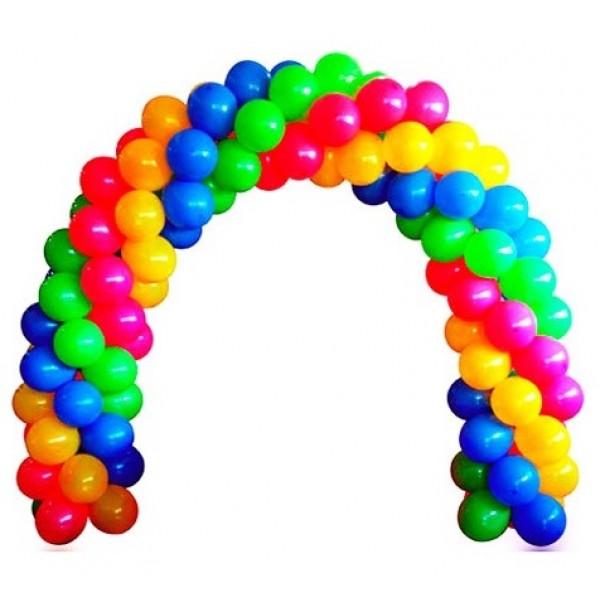 Арка из воздушных шариков «Цвета радуги»
