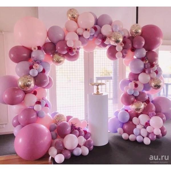 Арка из воздушных шариков «Разнокалиберная» Композиция № 2