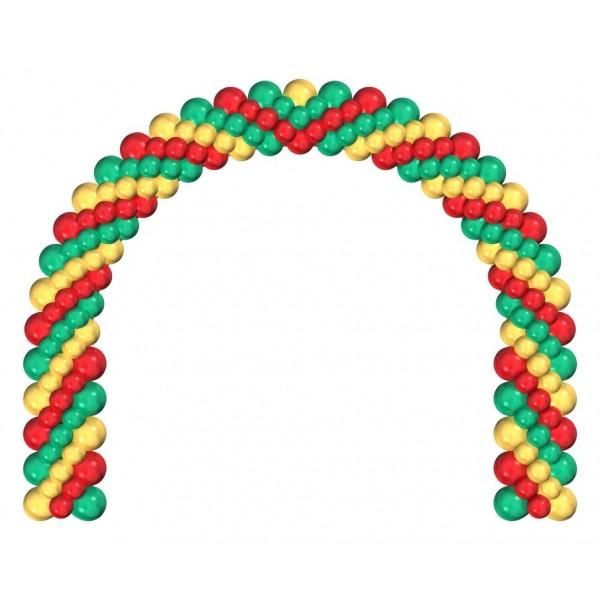 Арка из воздушных шариков «Трехцветная»
