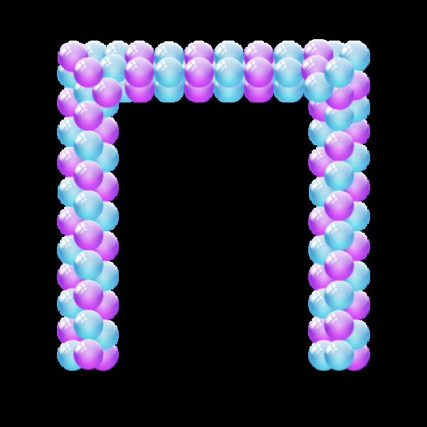 Арка из воздушных шариков «Прямоугольная» 2 цвета
