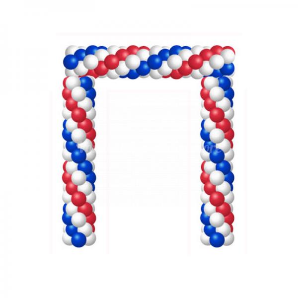 Арка из воздушных шариков «Триколор» 3 цвета