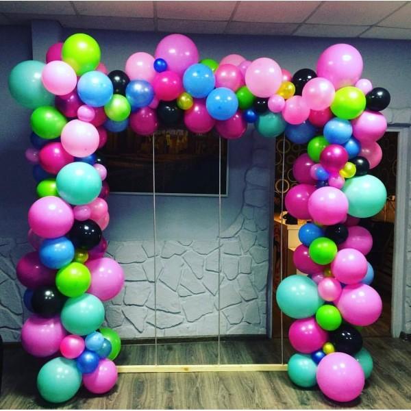 Арка из воздушных шариков «Разнокалиберная» Композиция № 1