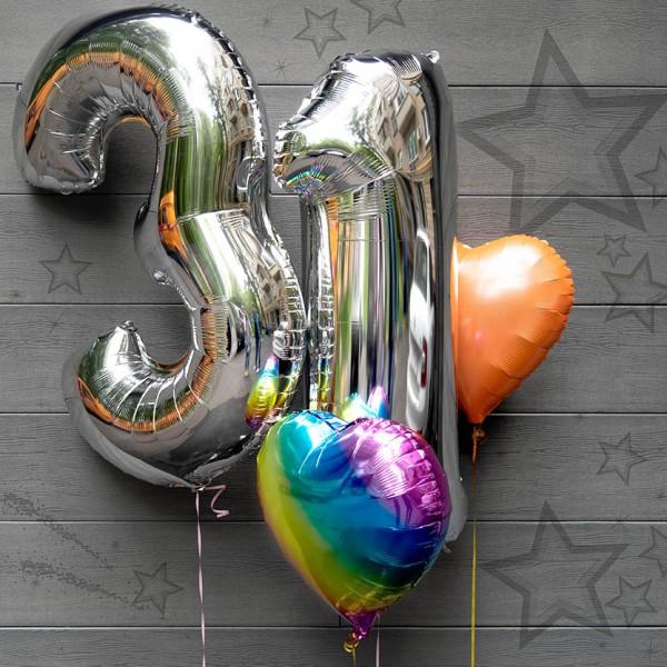 Букет из воздушных шариков Цифры