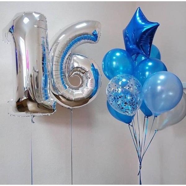 Композиция из воздушных шариков Дата