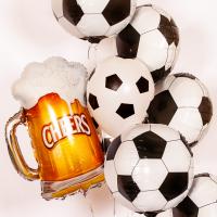 Букет из воздушных шариков Пивная кружка с мячами