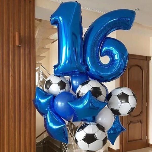 Букет из воздушных шариков Чемпион/футбол