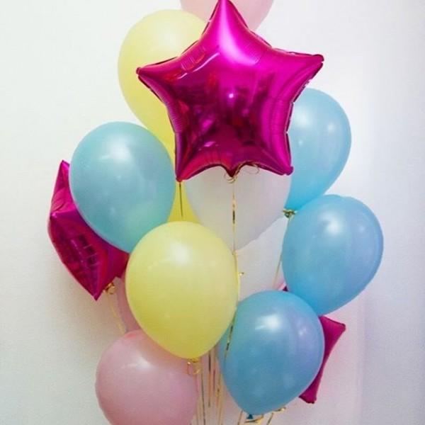 Букет из воздушных шариков Яркий со звездами