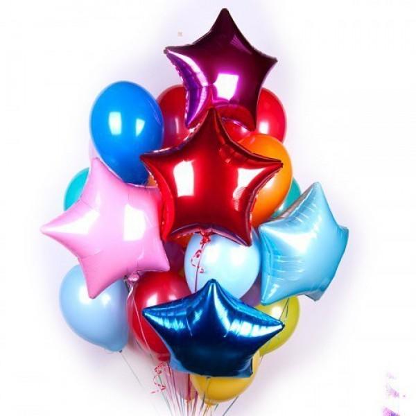 Букет из воздушных шариков Яркие звезды