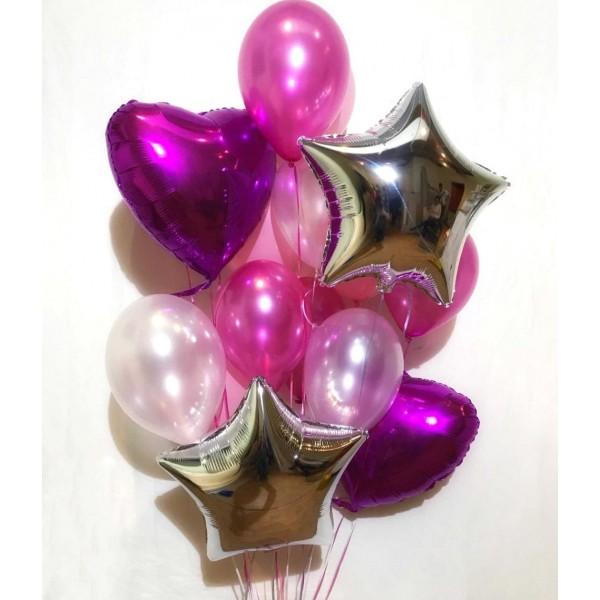 Букет из воздушных  шариков Блеск
