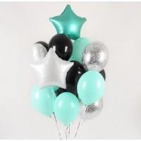 Букет из воздушных  шариков Изумруд