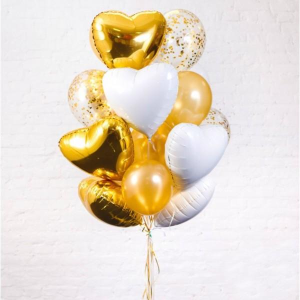 Букет из воздушных  шариков Золото