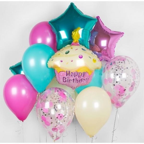 Букет из воздушных  шариков Праздничный торт