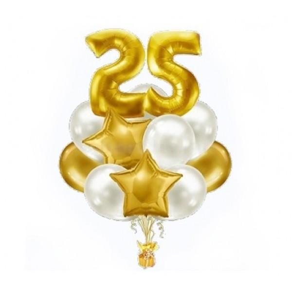Букет из воздушных  шариков  Две Цифры в шариках