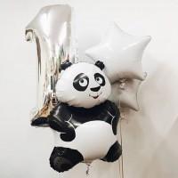 Композиция из воздушных шаров Панда