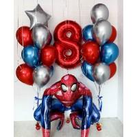 Композиция из воздушных шаров Человек Паук