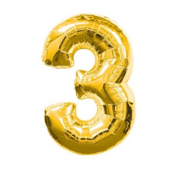 Цифра 3 Золото (100см)