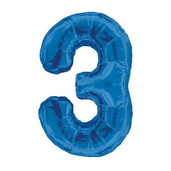 Цифра 3 Синяя (100см)