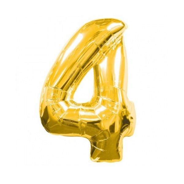 Цифра 4 Золото (100см)