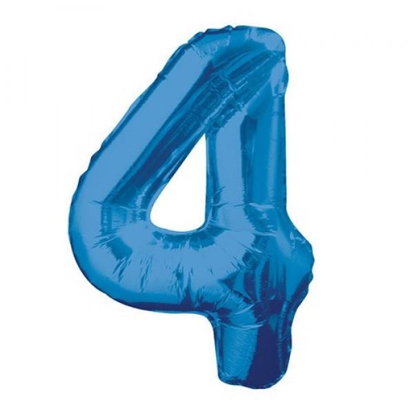 Цифра 4 Синяя (100см)