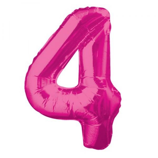 Цифра 4 Розовая (100см)