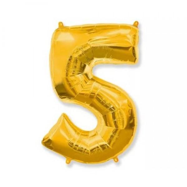Цифра 5 Золото (100см)