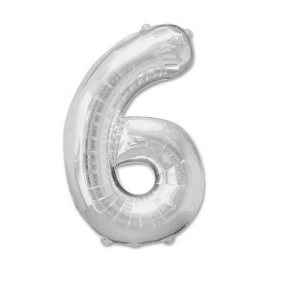 Цифра 6 Серебро (100см)